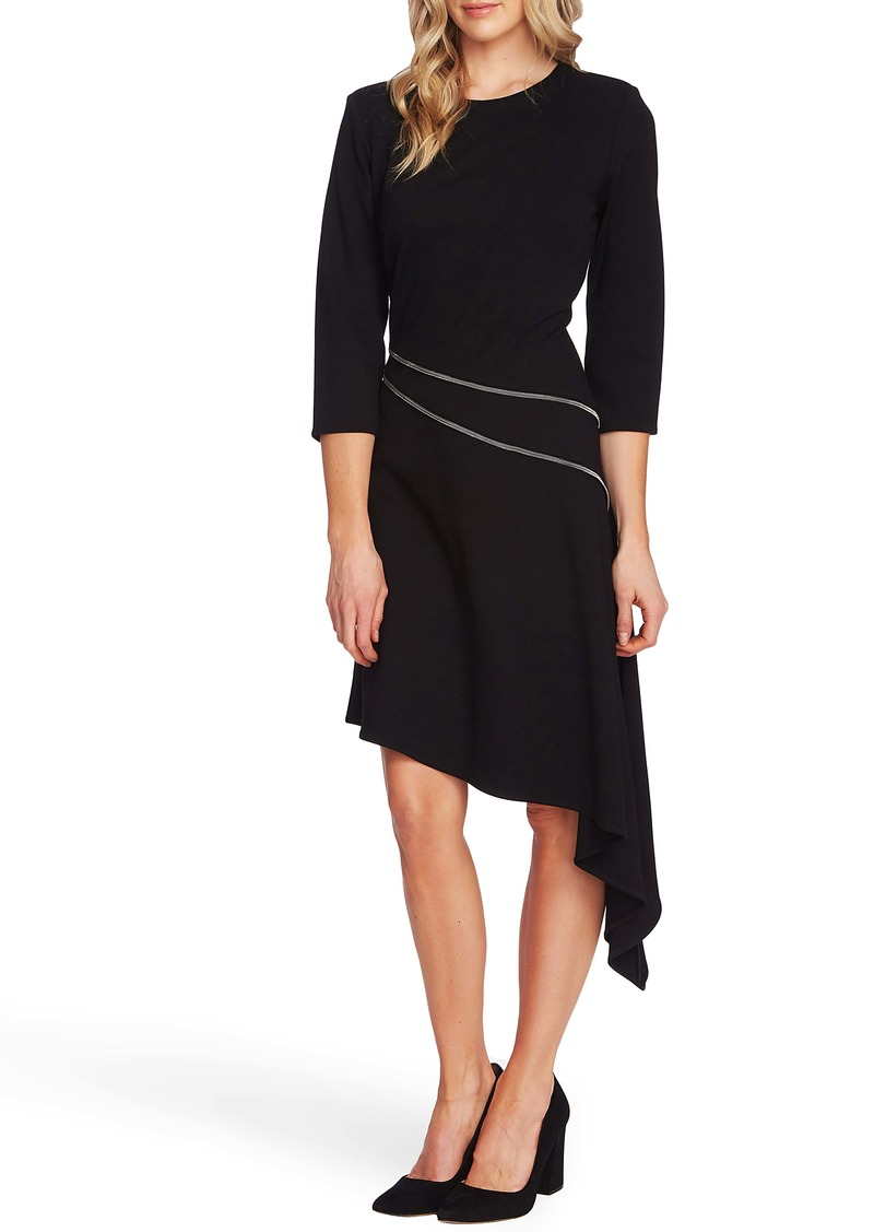 Vince Camuto Asymmetrical Ponte Dress