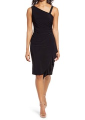 Vince Camuto Asymmetrical Ruched Cocktail Dress