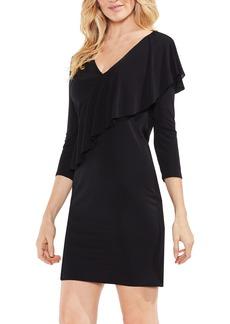 Vince Camuto Asymmetrical Ruffle Drape Front Dress