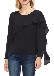 Vince Camuto Asymmetrical Ruffle Front Blouse (Regular & Petite)