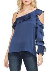 Vince Camuto Asymmetrical Ruffle One-Shoulder Blouse