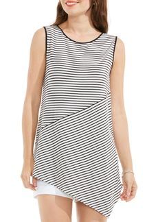 Vince Camuto Asymmetrical Stripe Top (Regular & Petite)