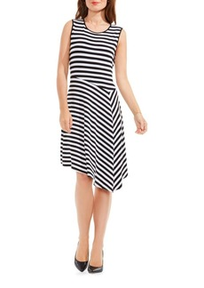 Vince Camuto Asymmetrical Striped Dress