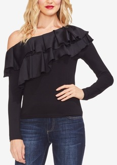Vince Camuto Asymmetrical Tiered-Ruffle Top