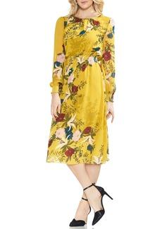 Vince Camuto Autumn Botanical Cinch Waist Dress