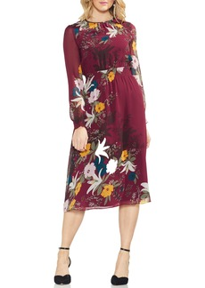 Vince Camuto Autumn Botanical Cinch Waist Dress