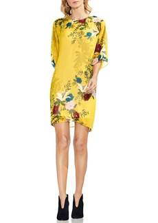 Vince Camuto Autumn Botanical Dolman Sleeve Shift Dress