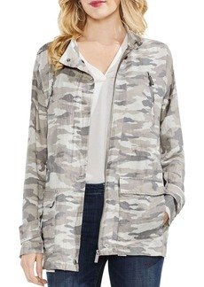 VINCE CAMUTO Avenue Camo Belted Military Jacket