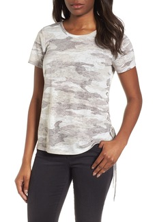 Vince Camuto Avenue Side Lace-Up Camo Tee