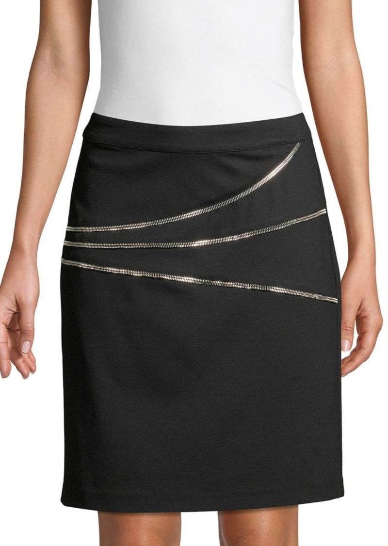 Vince Camuto Back Zip Ponte Skirt