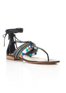 VINCE CAMUTO Balisa Embellished Pom-Pom Sandals
