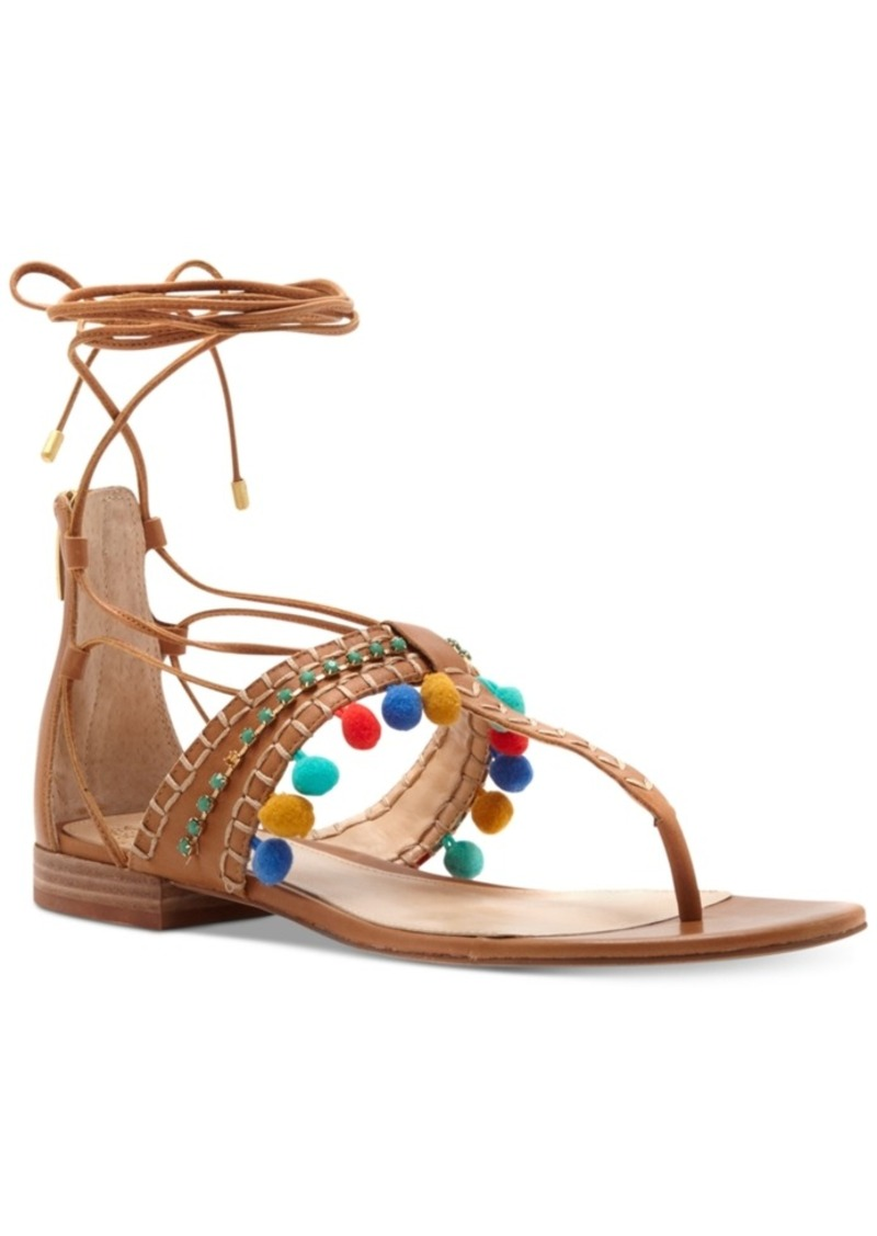 Vince Camuto Balisa Pom Pom Lace-Up Sandals Women's Shoes