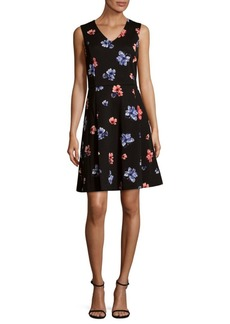 Vince Camuto Ballard Floral Fit-&-Flare Dress