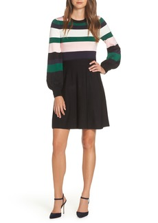 Vince Camuto Balloon Sleeve Fit & Flare Sweater Dress