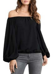VINCE CAMUTO Balloon Sleeve Off-the-Shoulder Top
