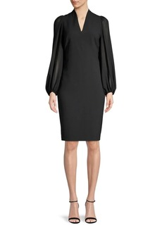 Vince Camuto Balloon-Sleeve Sheath Dress