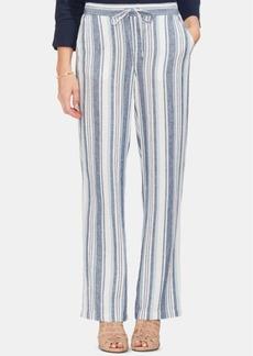 Vince Camuto Beach Stripe Linen Drawstring Pants