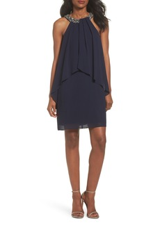 Vince Camuto Beaded Halter Trapeze Dress