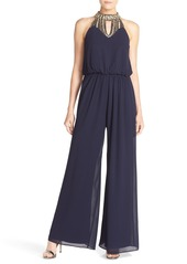 Vince Camuto Beaded Neck Jumpsuit