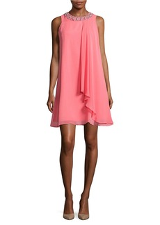 VINCE CAMUTO Beaded Trapeze Dress