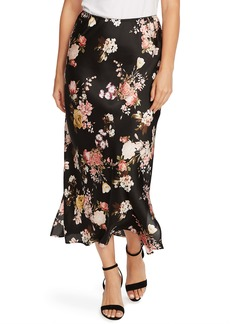 Vince Camuto Beautiful Blooms Midi Skirt