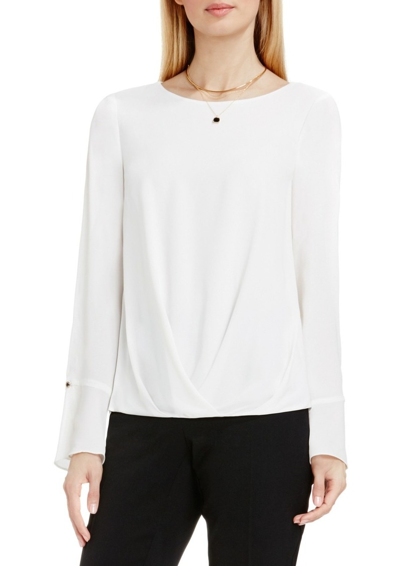 Vince Camuto Bell Cuff Fold Front Blouse