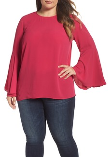 Vince Camuto Bell Sleeve Blouse (Plus Size)
