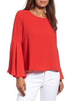 Vince Camuto Bell Sleeve Blouse (Regular & Petite)