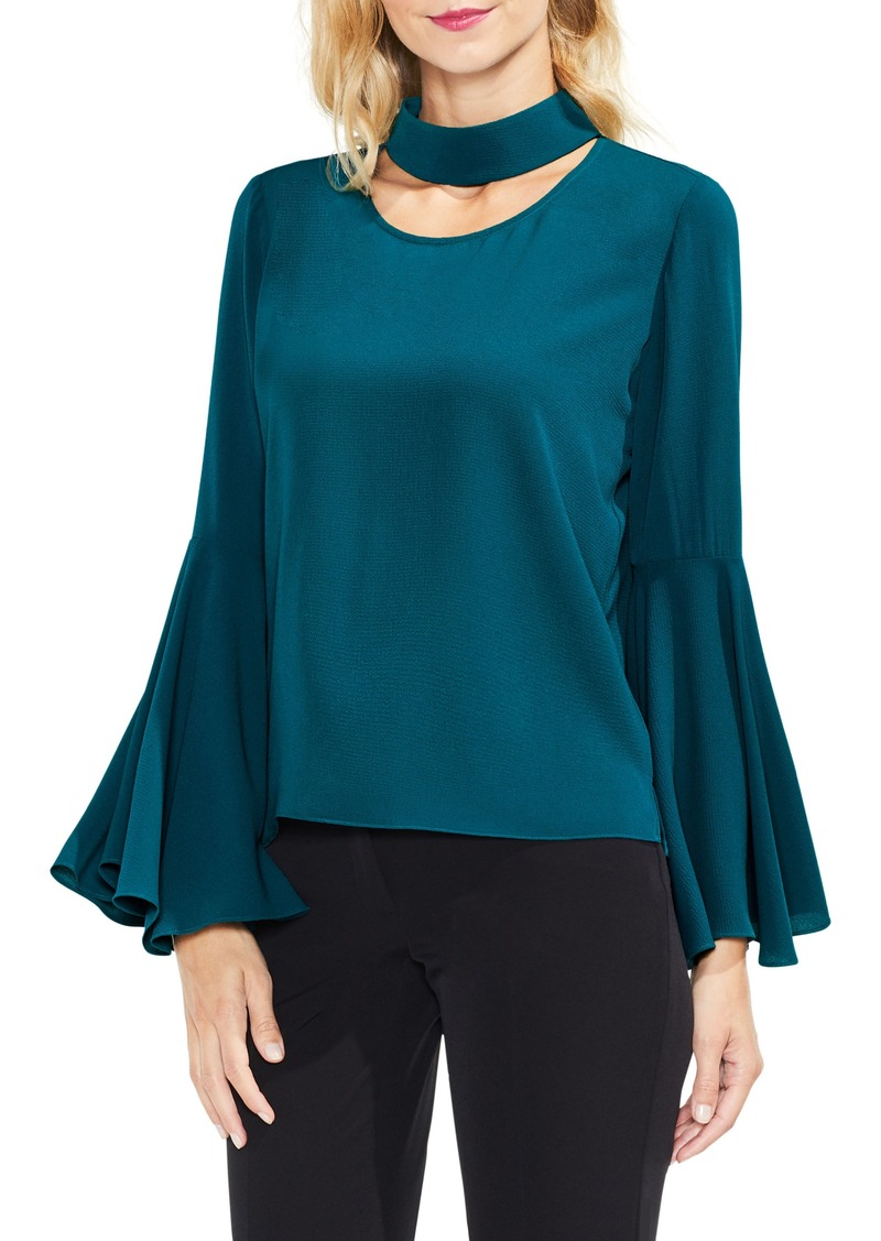 Vince camuto vince camuto bell sleeve choker neck blouse for Vince tee shirts sale