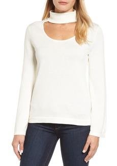Vince Camuto Bell Sleeve Choker Neck Sweater (Regular & Petite)
