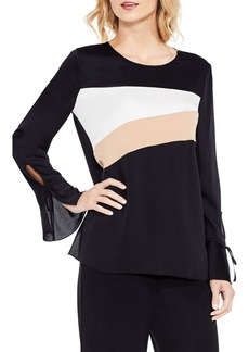 Vince Camuto Bell Sleeve Colorblock Top