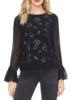 Vince Camuto Bell Sleeve Embellished Blouse