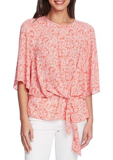 Vince Camuto Bell Sleeve Garden Print Top