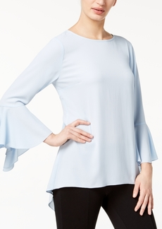 Vince Camuto Bell-Sleeve High-Low Blouse