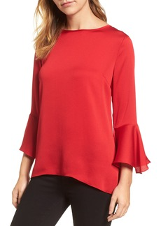 Vince Camuto Bell Sleeve High/Low Blouse