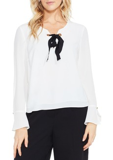 Vince Camuto Bell Sleeve Lace-Up Blouse