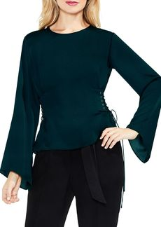 VINCE CAMUTO Bell Sleeve Lace-Up Side Blouse