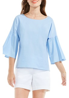 Vince Camuto Bell Sleeve Poplin Blouse