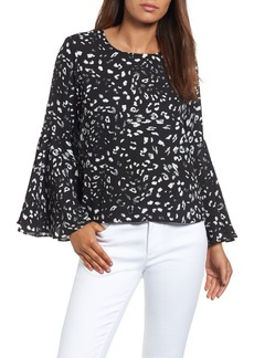 Vince Camuto Bell Sleeve Print Blouse
