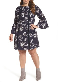 Vince Camuto Bell Sleeve Shift Dress (Plus Size)