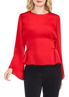 Vince Camuto Bell Sleeve Side Lace-Up Blouse