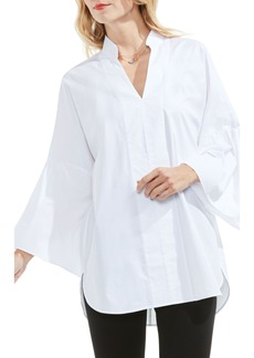 Vince Camuto Bell Sleeve Stretch Poplin Tunic