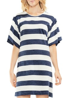 VINCE CAMUTO Bell Sleeve Stripe Dress