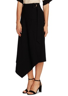 Vince Camuto Belted Asymmetrical Midi Skirt