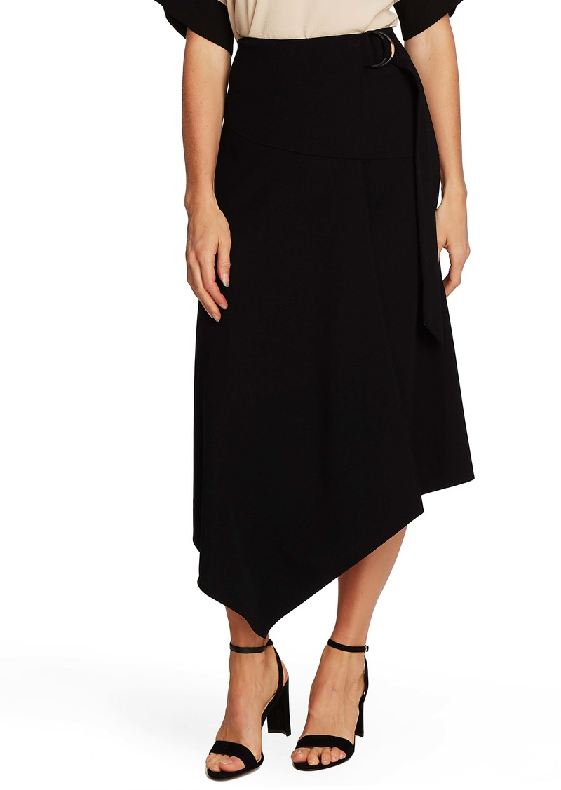 Vince Camuto Belted Asymmetrical Skirt
