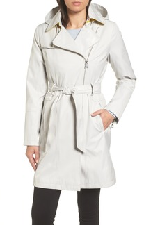 Vince Camuto Belted Asymmetrical Trench Coat