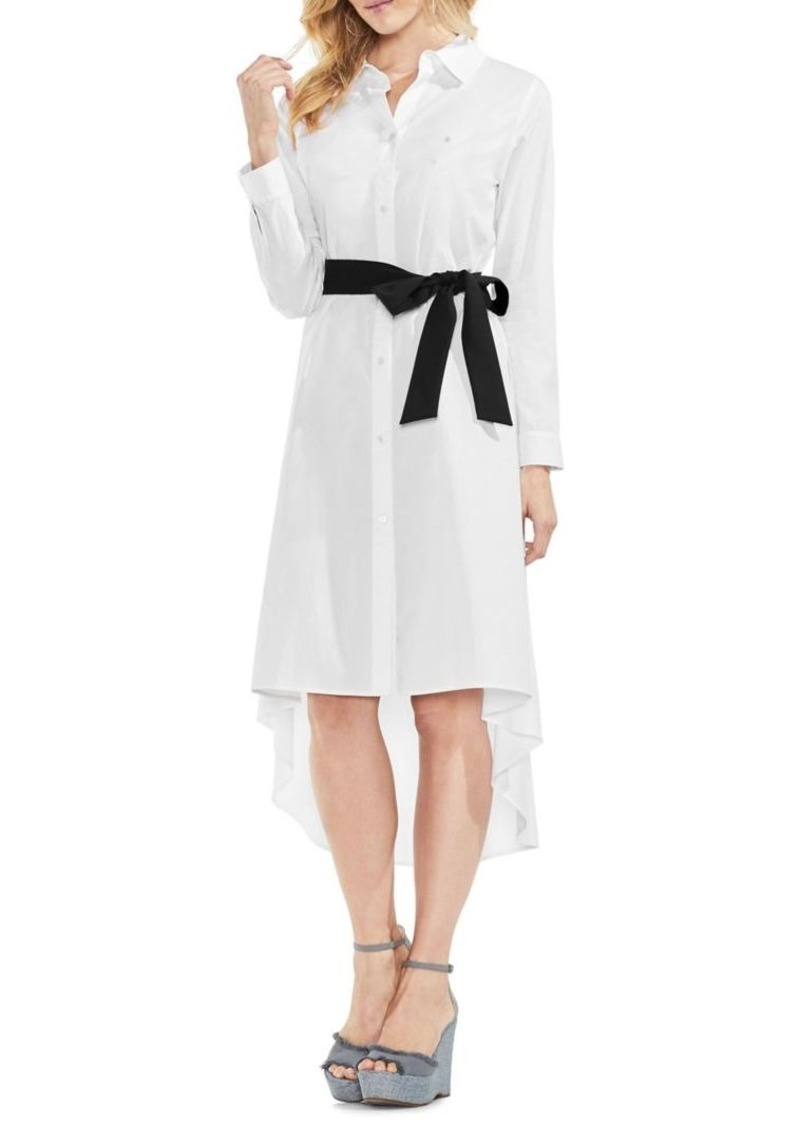 Vince Camuto Belted Button-Front Shirt Dress