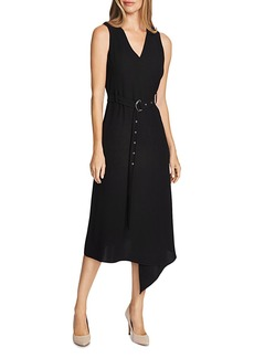 VINCE CAMUTO Belted Crepe Midi Dress