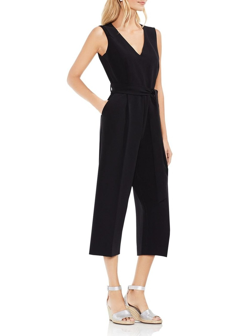 VINCE CAMUTO Cropped Wide-Leg Jumpsuit