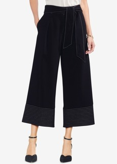 Vince Camuto Belted Cropped Wide-Leg Pants